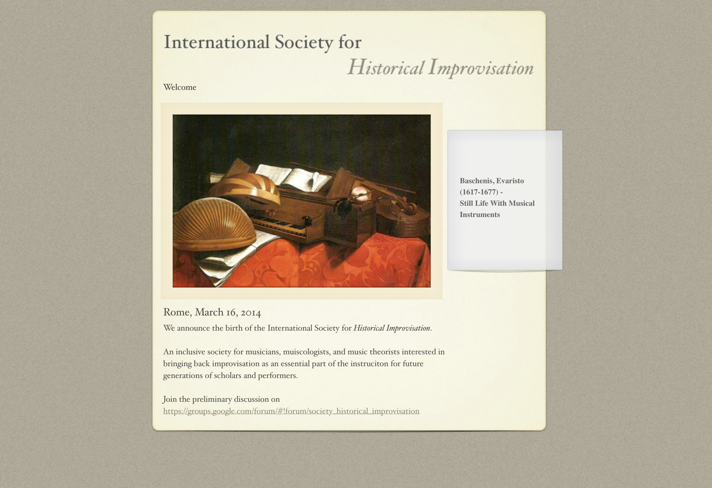 International Society for Historical Improvisation