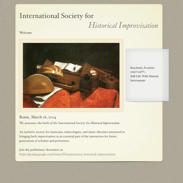 Thumbnail for International Society for Historical Improvisation